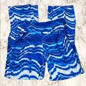 Cynthia Rowley Blue Aqua Lounge Pants Size Small
